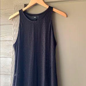 Black Mossimo half-sheer maxi dress